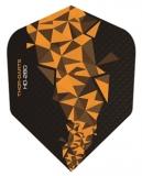 THOR-DARTS F2 orange-schwarz Set (3 Stück) 150 micron Flights
