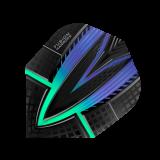 Harrows Darts Fusion  Flights  1 Set (3 Stück) grün-blau (4401)