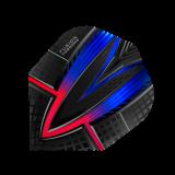 Harrows Darts Fusion  Flights  1 Set (3 Stück) rot-blau (4403)