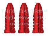 1 Set (3 Stück) rote Darts Flightschoner / Flight Protektoren TD_FP2 Protector Schutz Flights Defender Fly Saver