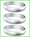 Schaftring aluminium silber 1 Set (3 Stück)