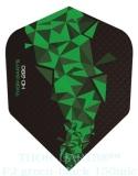 THOR-DARTS F2 grün-schwarz Set (3 Stück) 150 micron Flights