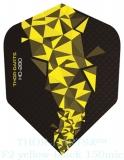 THOR-DARTS F2 gelb-schwarz Set (3 Stück) 150 micron Flights