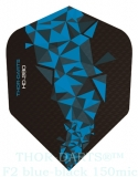 THOR-DARTS F2 blau-schwarz Set (3 Stück) 150 micron Flights