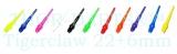 100 THOR-DARTS Tigerclaw Softdart-Wechselspitzen Farb-Mix
