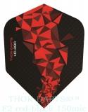 THOR-DARTS F2 rot-schwarz Set (3 Stück) 150 micron Flights