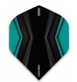 schwarz-aqua Pentathlon 150 micron X-Wing HD150 ultra dicke 150 Micron Flights 1 Set (3 Stück)