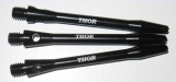 1 Set (3 Stück) schwarze 47mm medium Schäfte aluminium mit gelasertem THOR-Branding