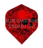 1 Set (3 Stück) Totenkopf-Flights rot TX0501-50