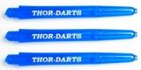 1 Set (3 Stück) THOR 1CT-Line transluzenter Premiumschaft blau medium 48mm 2ba mit THOR-DARTS Logo