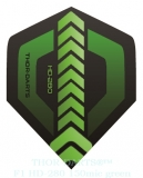THOR-DARTS F1 grün-schwarz Set (3 Stück) 150 micron Flights