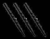 Harrows Laser Cut Dart Points - Replacement Steel Tip Spare Points - Black - 32mm - Chevron 1 Set (3 Stück)