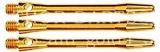 1 Set (3 Stück) goldfarbene 48mm medium Schäfte aluminium