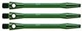 1 Set (3 Stück) grüne 48mm medium Schäfte aluminium