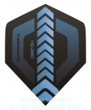 THOR-DARTS F1 blau-schwarz Set (3 Stück) 150 micron Flights