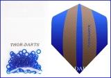 Blaue Silikonringe professionell für 2ba Gewinde 100 Stück (33 Set)