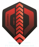 THOR-DARTS F1 rot-schwarz Set (3 Stück) 150 micron Flights